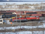 Trio of Locomotives sit in Hamilton Yard